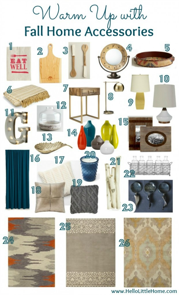 Warm up with Fall Home Accessories | Hello Little Home #InteriorDesign #Decor #Fall