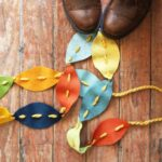Fall DIY Ideas: Felt Leaves Garland by A Beautiful Mess | Hello Little Home #DIY #crafts