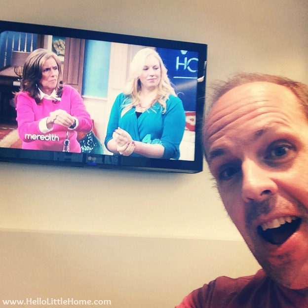 Joel Watching Me on the Meredith Vieira Show | Hello Little Home