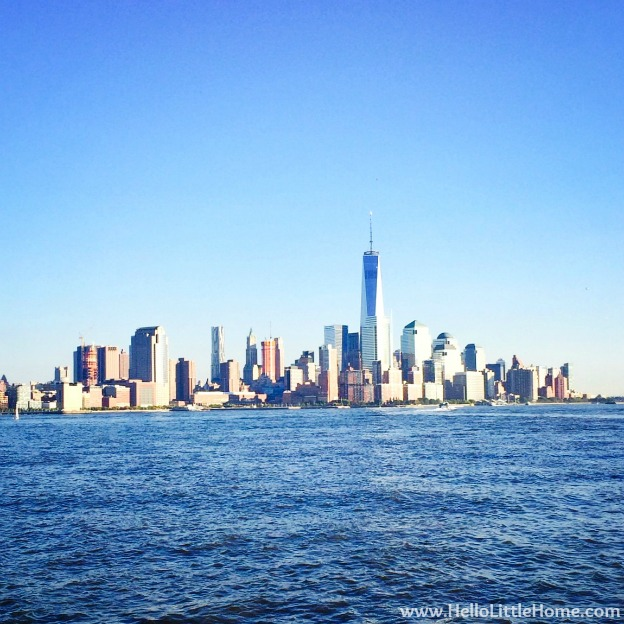 Lower Manhattan from Hoboken | Hello Little Home