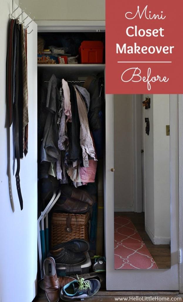 Mini Closet Makeover with Dollar Tree Anniversary Event | Hello Little Home #DTAnniversary #ad
