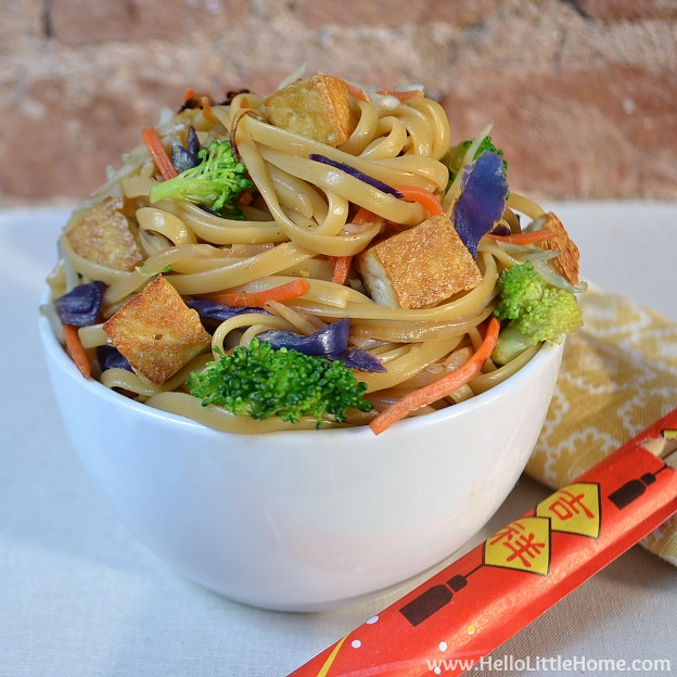 Takeout Fake Out: Vegetable Tofu Lo Mein