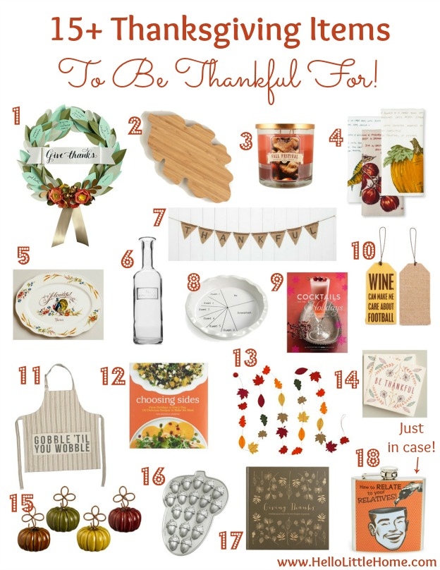 15+ Thanksgiving Items To Be Thankful For! | Hello Little Home #holiday #decorating
