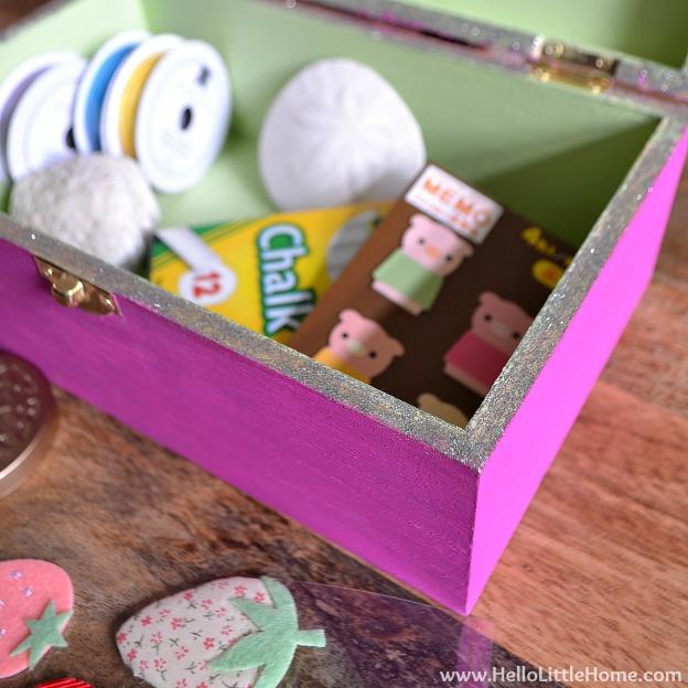 DIY Kids Treasure Box | Hello Little Home #craft #paint #GiftIdea