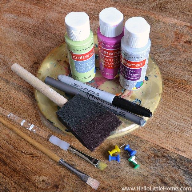 DIY Kids Treasure Box: Supplies | Hello Little Home #craft #paint #GiftIdea