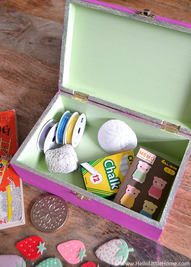 Kids Treasure Box, featured on The Ultimate DIY Christmas Gift Guide: 50+ Gift Ideas for Everyone on Your List! | Hello Little Home