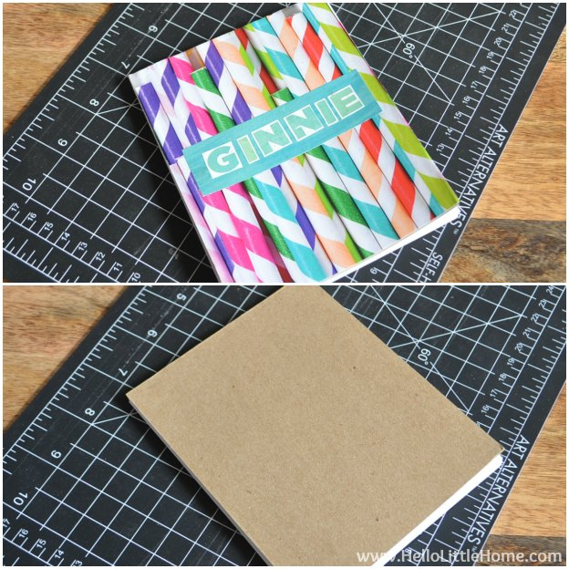 DIY Personalized Notepads: Attaching Covers | Hello Little Home #PaperCraft #HolidayGift