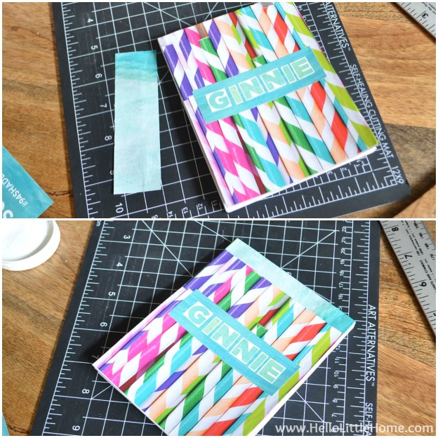DIY Personalized Notepads: Attaching Spine Cover | Hello Little Home #PaperCraft #HolidayGift