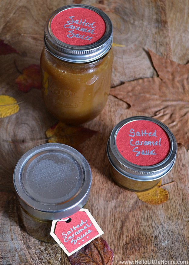 DIY Salted Caramel Sauce + Foodie Gift Guide | Hello Little Home #HolidayGiftGuide #dessert