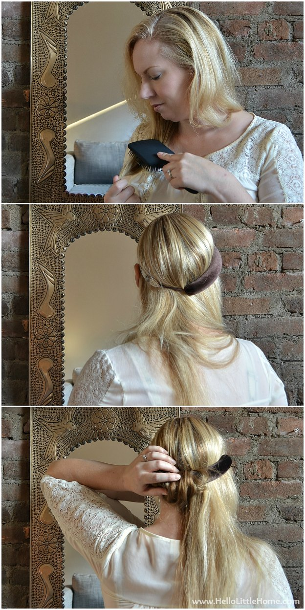 3 Easy Hair Styles for the Holidays: Side Twist Updo | Hello Little Home #HeartMyHair #Conair #Tutorial