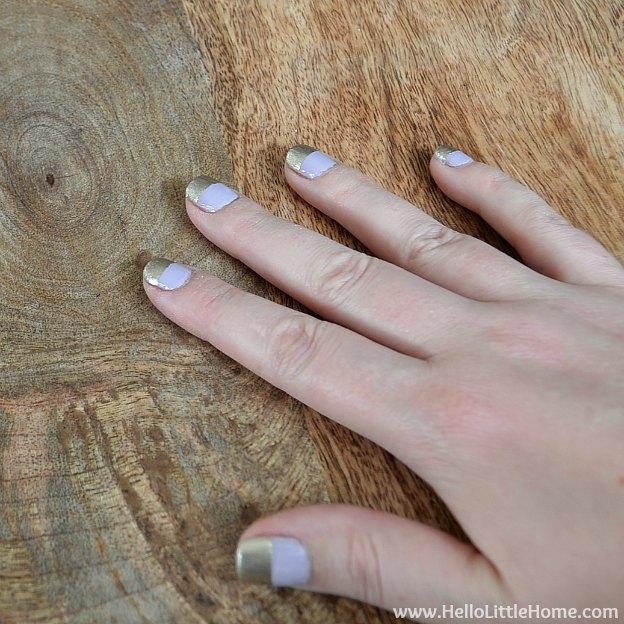 Easy Wide Stripe Nail Art Tutorial | Hello Little Home #beauty