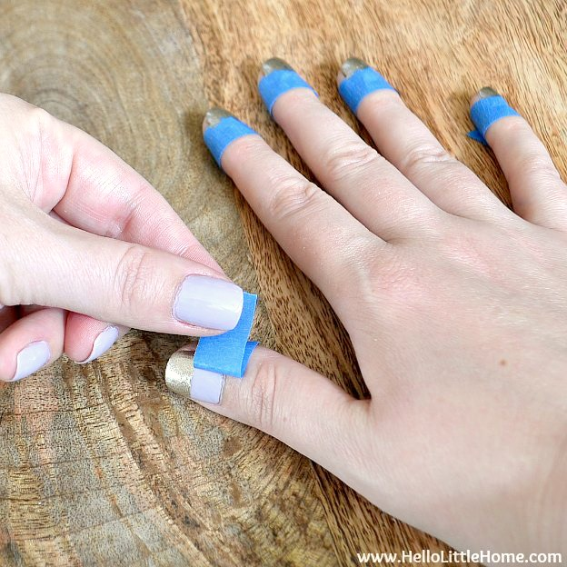 Removing Tape From Wide Stripe Nail Art