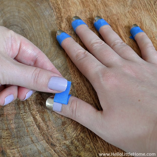 Easy Wide Stripe Nail Art Tutorial For Teenagers With Tape