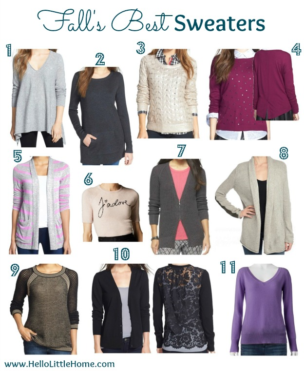 Fall's Best Sweaters   Hello Little Home #style #fashion #FallStyle