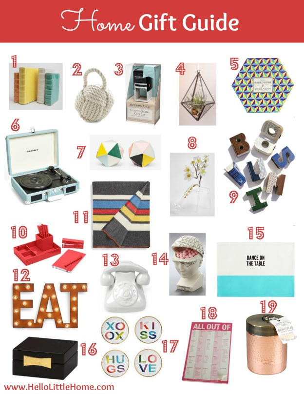Home Gift Guide | Hello Little Home #shopping #holidays