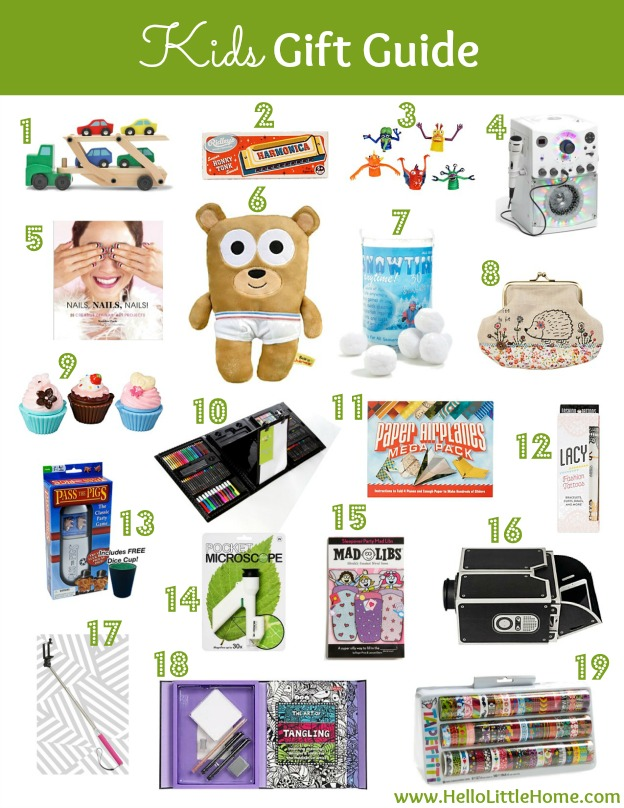Kids Gift Guide | Hello Little Home #Holidays #shopping GiftGuide