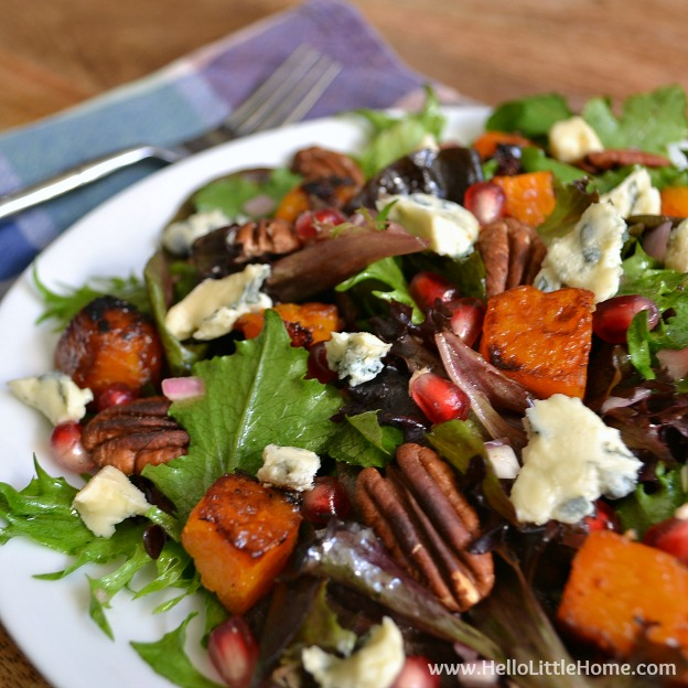 Roasted Butternut Squash and Gorgonzola Salad ... a delicious ...