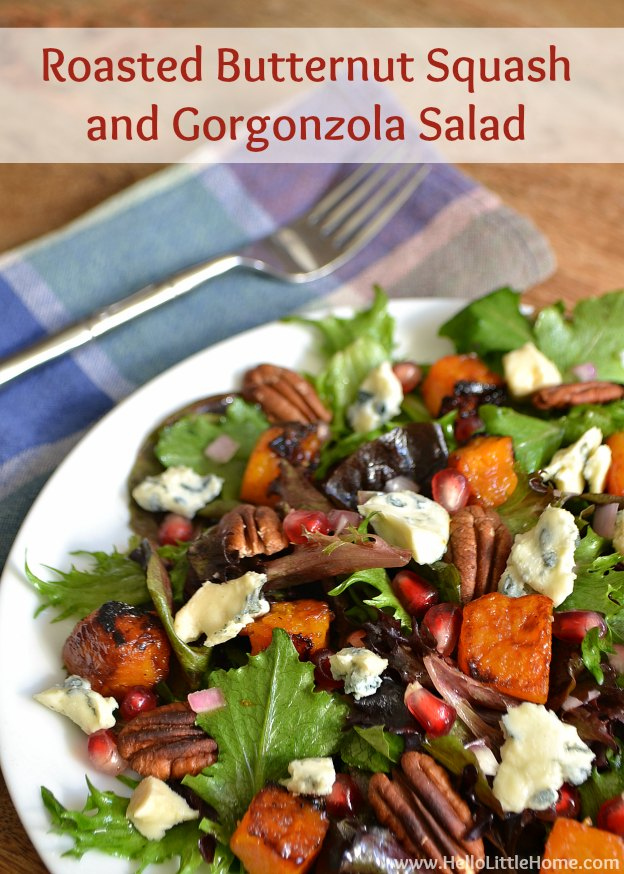 Roasted Butternut Squash and Gorgonzola Salad | Hello Little Home ...