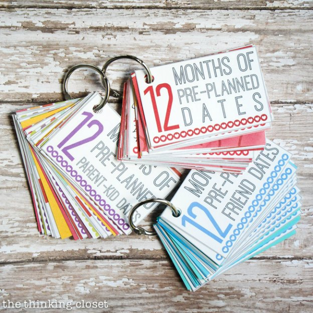 DIY Gift Ideas for Everyone: 12 Months of Date Nights Printable | Hello Little Home #crafts #holidays #Christmas