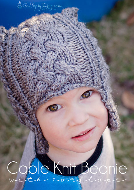 DIY Gift Ideas for Everyone: Kids Cable Knit Hat | Hello Little Home #crafts #holidays #Christmas