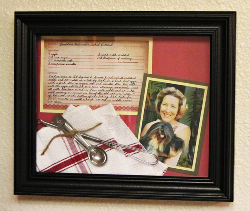DIY Gift Ideas for Everyone: Framed Family Recipe | Hello Little Home #crafts #holidays #Christmas