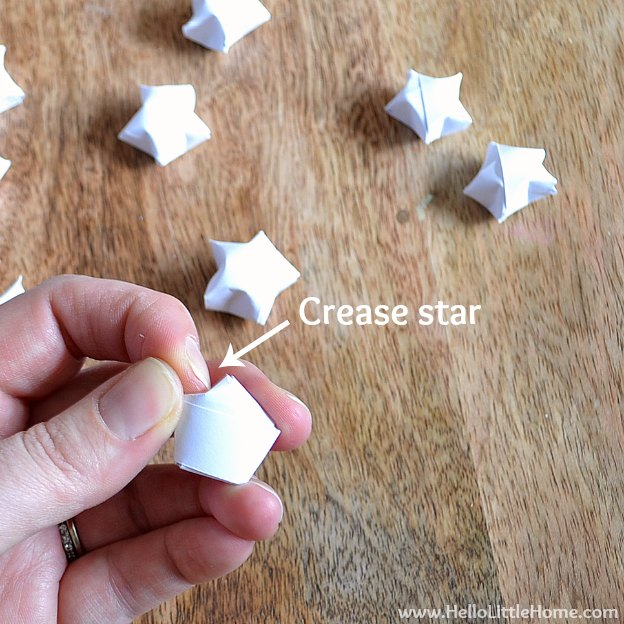 Diy Origami Lucky Star Garland Hello Little Home
