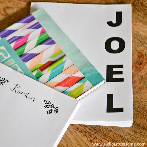 DIY Gift Ideas for Everyone: Personalized Notepads | Hello Little Home #crafts #holidays #Christmas