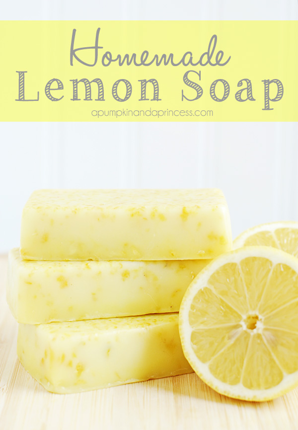 DIY Gift Ideas for Everyone: Homemade Lemon Soap | Hello Little Home #crafts #holidays #Christmas