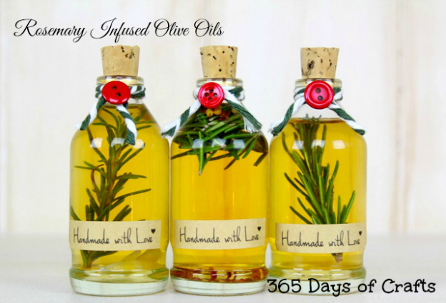 DIY Gift Ideas for Everyone: Rosemary Infused Olive Oil | Hello Little Home #crafts #holidays #Christmas
