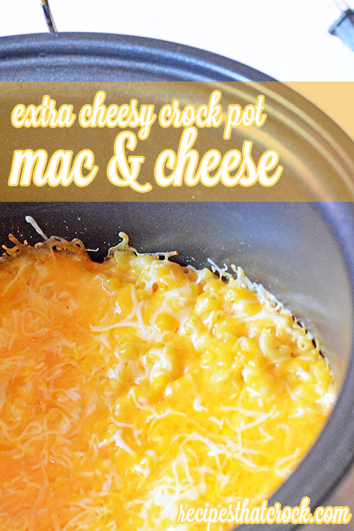 15 Vegetarian Crockpot Recipes: Extra Cheesy Mac and Cheese | Hello Little Home #Pasta #ComfortFood