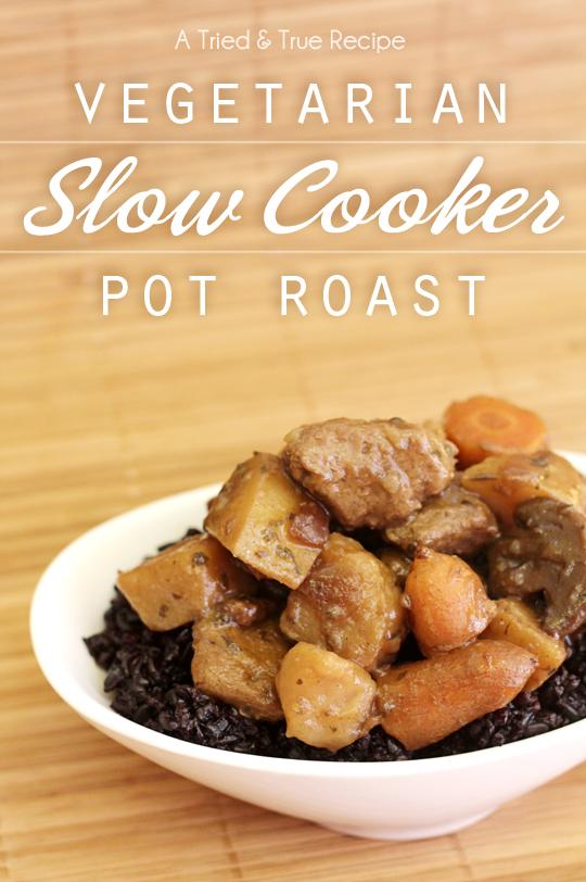 15 Vegetarian Crockpot Recipes: Slow Cooker Pot Roast | Hello Little Home #ComfortFood