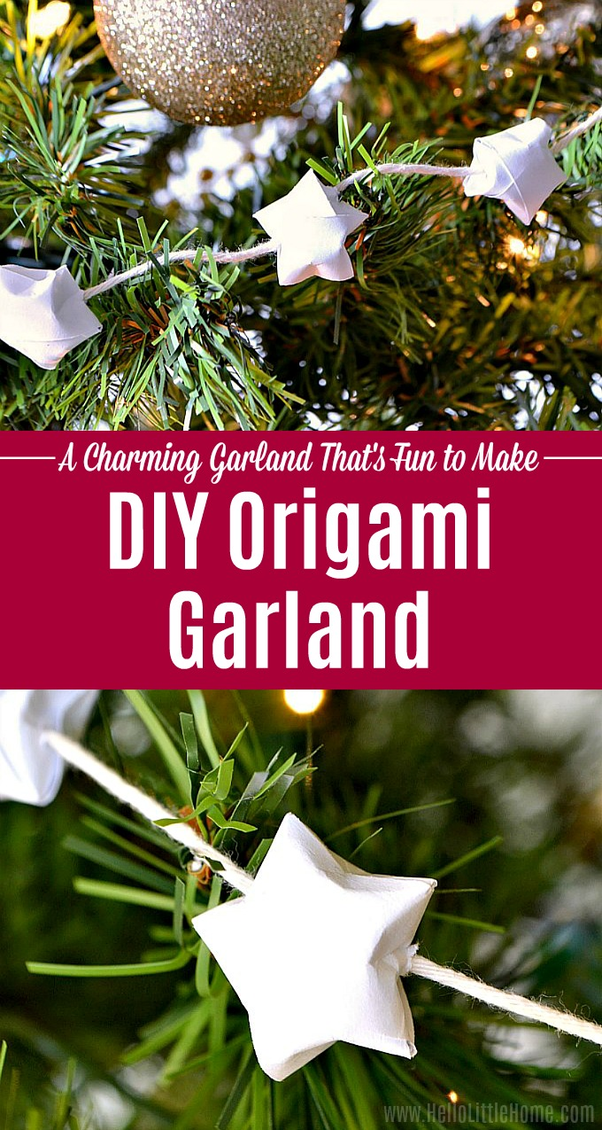 DIY Origami Lucky Star Garland