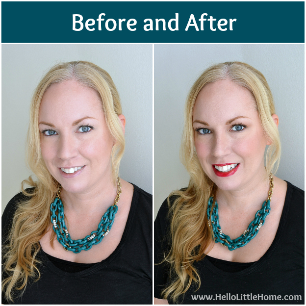 Easy Day to Night Makeup: Before & After | Hello Little Home #beauty #tutorial #holidaymakeup