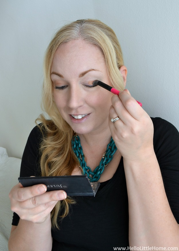 Easy Day to Night Makeup: Applying Eyeshadow | Hello Little Home #beauty #tutorial #holidaymakeup