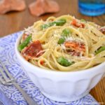 Fettucine Alfredo with Asparagus and Sundried Tomatoes Recipe | Hello Little Home
