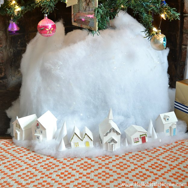 Holiday Apartment Tour: Christmas Village | Hello Little Home #Christmas #holidays #DIY