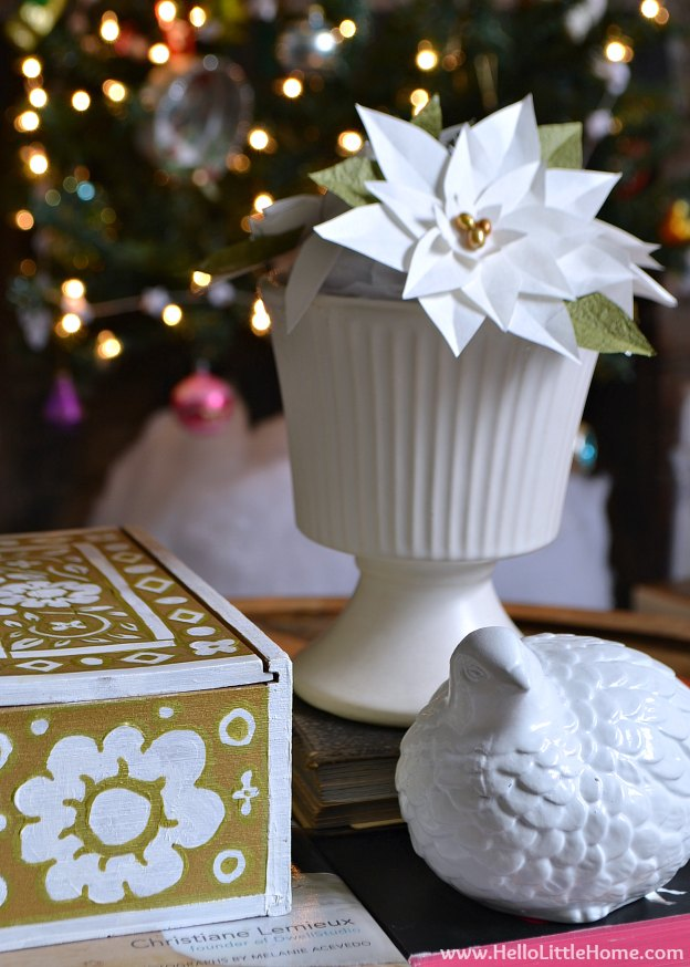 Holiday Apartment Tour: Coffee Table | Hello Little Home #Christmas #holidays #DIY
