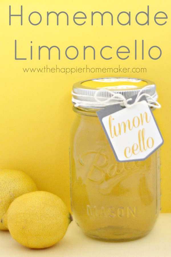 DIY Gift Ideas for Everyone: Homemade Limoncello | Hello Little Home #crafts #holidays #Christmas
