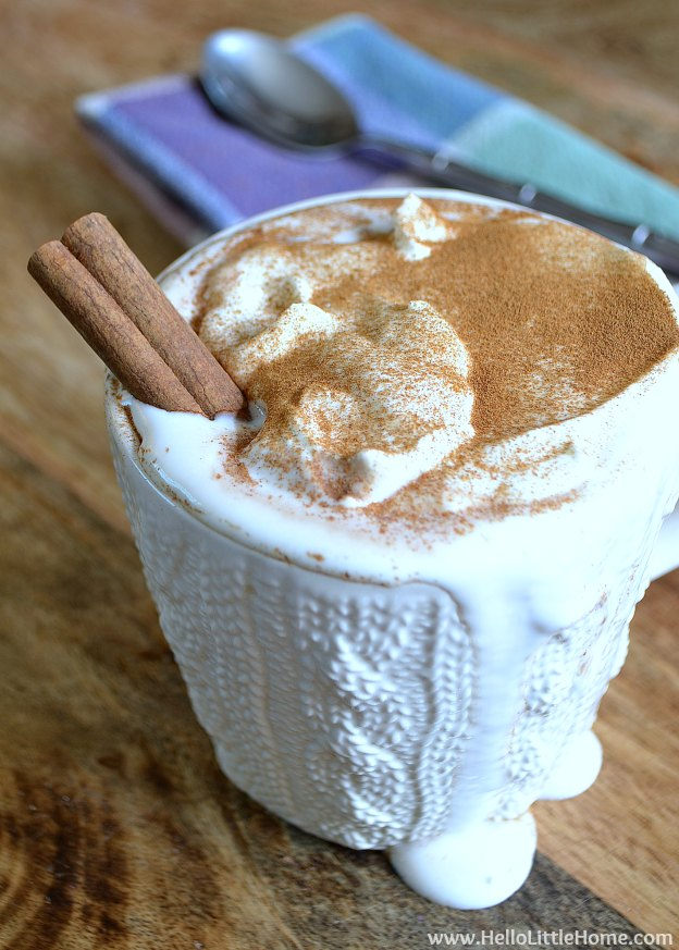 Mexican Hot Chocolate ... one of 100 Vegetarian Game Day Recipes! Get ready for the big game with over 100 vegetarian and vegan appetizers, soups, chilis, main dishes, sandwiches, breakfast, desserts, and more that will make your next football watching party unforgettable! | Hello Little Home