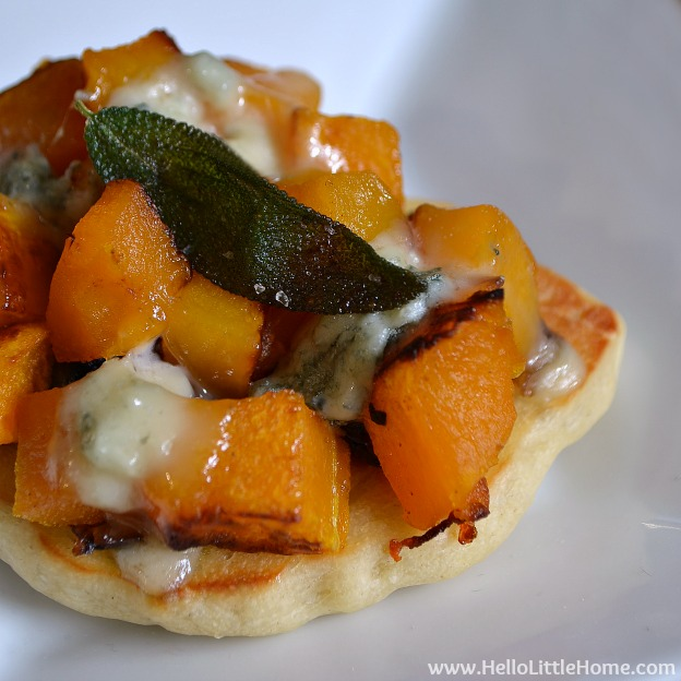 Mini Roasted Butternut Squash and Gorgonzola Pizzas | Hello Little ...