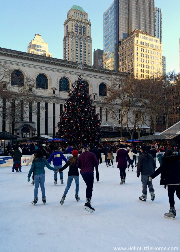 New York Holiday Tour: Bryant Park | Hello Little Home #Christmas #NYC #5thAvenue #MadisonAvenue