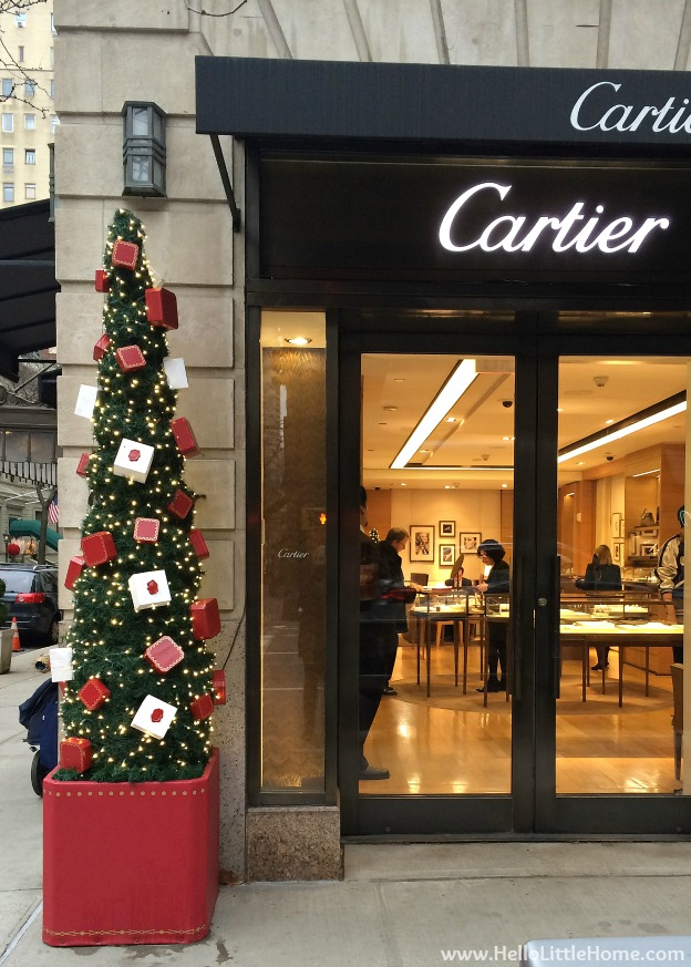 New York Holiday Tour: Cartier | Hello Little Home #Christmas #NYC #5thAvenue #MadisonAvenue