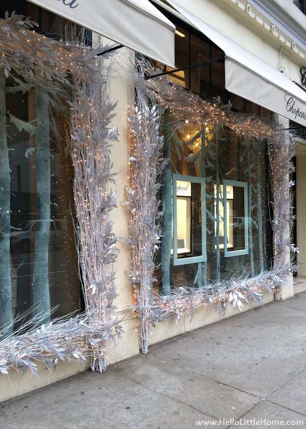 New York Holiday Tour: Chopard | Hello Little Home #Christmas #NYC #5thAvenue #MadisonAvenue