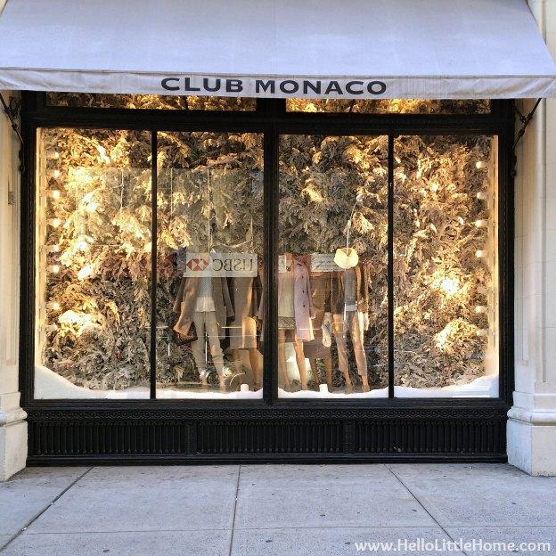 New York Holiday Tour: Club Monaco | Hello Little Home #Christmas #NYC #5thAvenue #MadisonAvenue