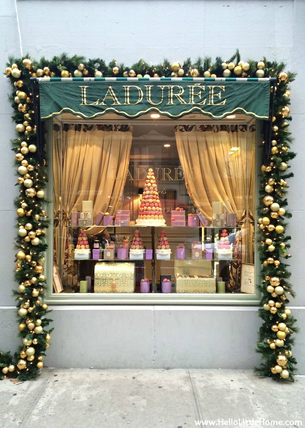 New York Holiday Tour: Laduree | Hello Little Home #Christmas #NYC #5thAvenue #MadisonAvenue