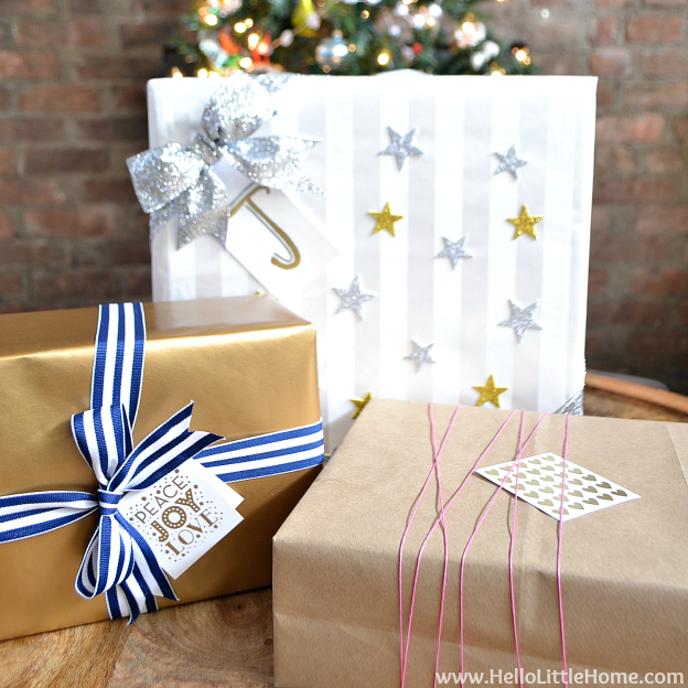 Present Wrapping Tips + 3 Easy Gift Ideas | Hello Little Home #Christmas #holidays