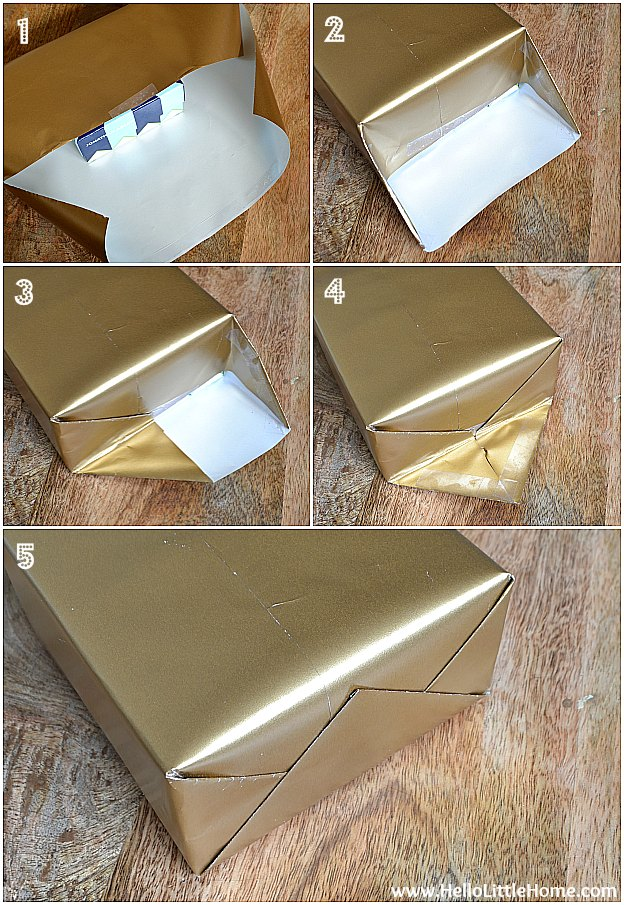 Present Wrapping Tips ... how to wrap a gorgeous gift, plus three easy gift wrap ideas! | Hello Little Home