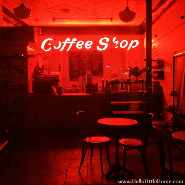 Red Coffee Shop | Hello Little Home