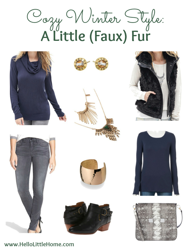 Cozy Winter Style: A Little (Faux) Fur | Hello Little Home #fashion