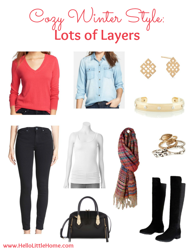 Cozy Winter Style: Lots of Layers | Hello Little Home #fashion